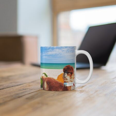 And I-i-i-i-i, Will Always Love You, 11 oz. Coffee Mug Alpaca Gift right side alpaca listening