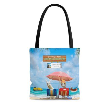 Greetings from Alpaca Beach gift beach bag