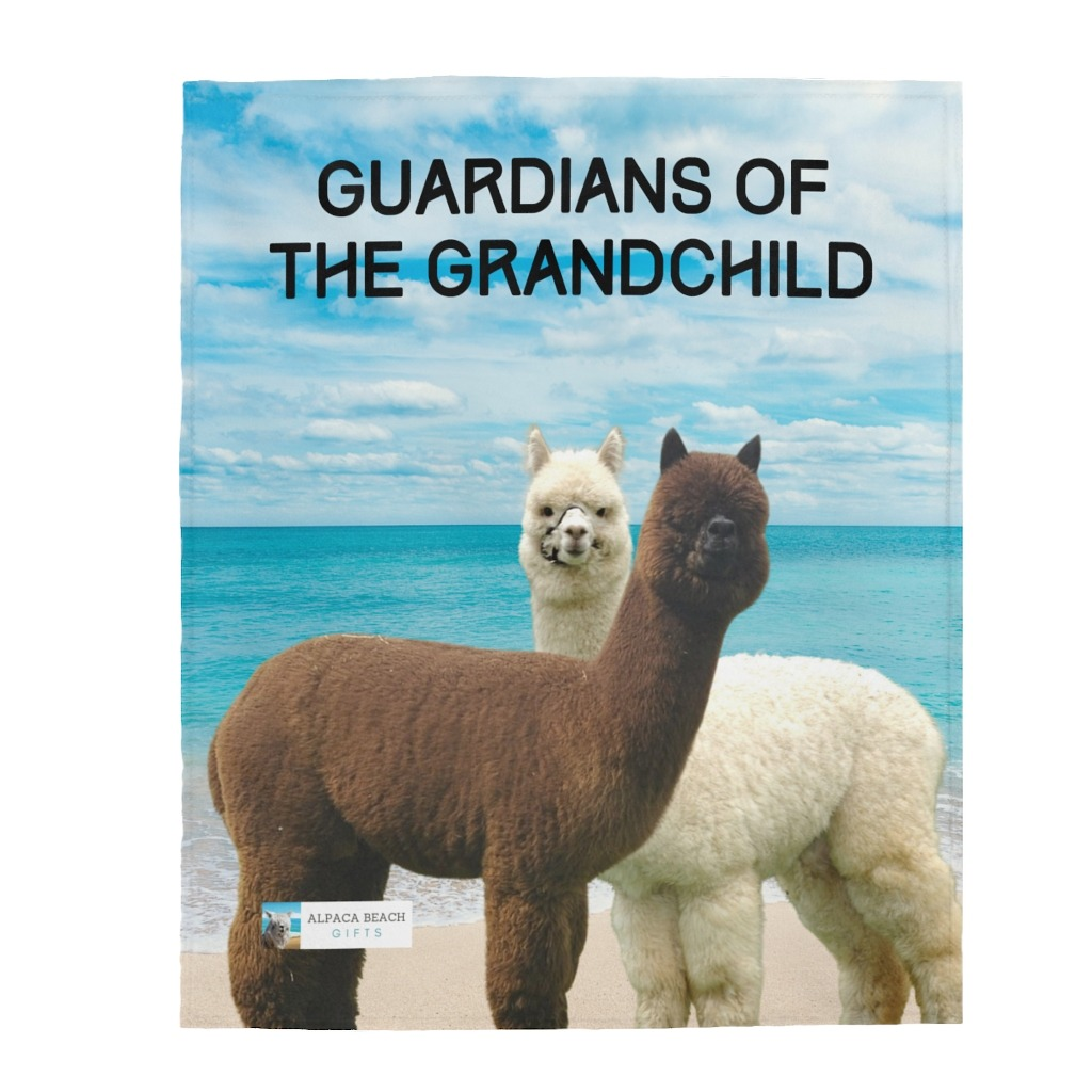 Guardians of the Grandchild gift soft blanket