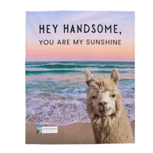 hey handsome gift blanket