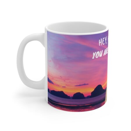 Hey handsome gift mug for boyfriend