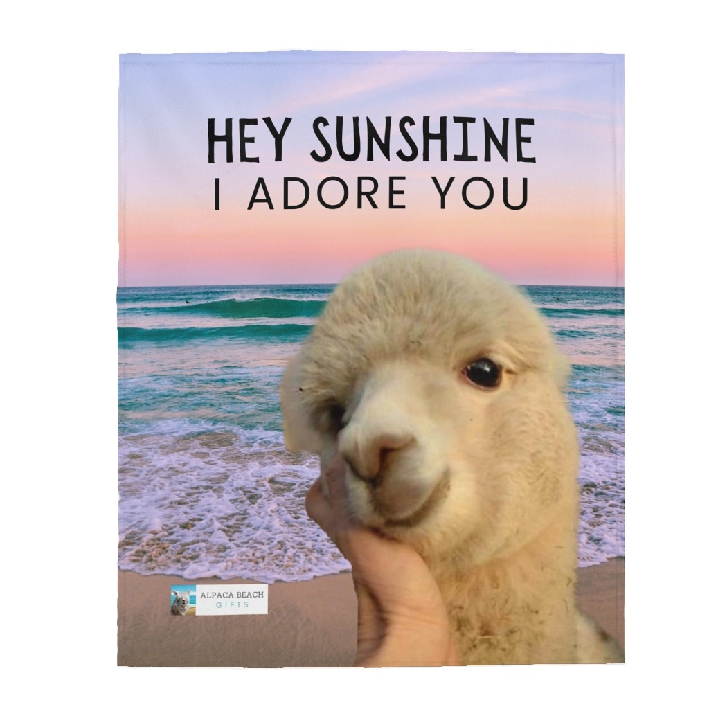 https://alpacabeachgifts.com/shop/blankets/treasured-you-are-my-sunshine-velveteen-plush-blanket-alpaca-gift/