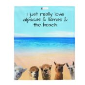 I just really like alpacas, llamas and the beach gift blanket