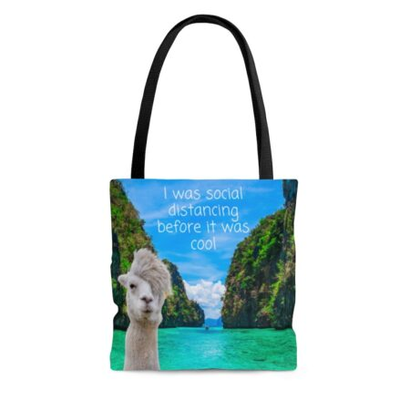 I was social distancing before it was cool gift tote bag for aunt