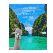 I was social distancing before it was cool gift blanket for son
