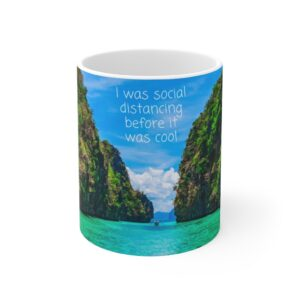 I was social distancing before it was cool gift mug for grandpa