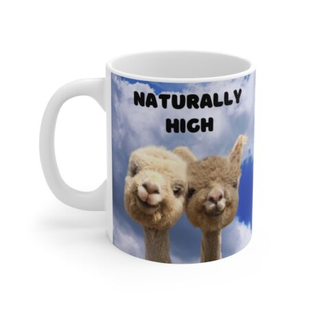 Naturally High anniversary gift mug for friends