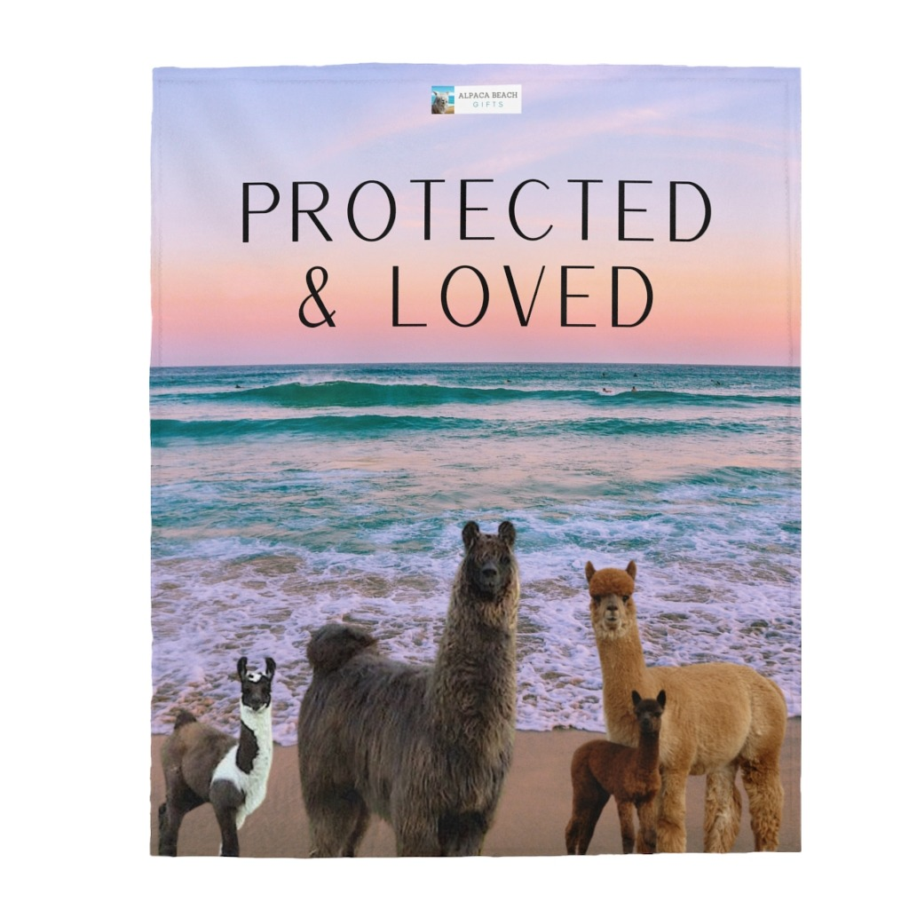 Protected & loved Gift Blanket for son