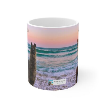 Protected & Loved gift mug for son with ocean beach