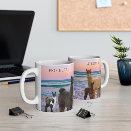 Protect and loved gift mug for child