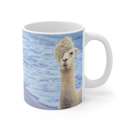 Sorry, I Can't. I have plans with my alpaca. Funny alpaca beach gift mug. alpaca