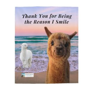 Thank you to child gift blanket