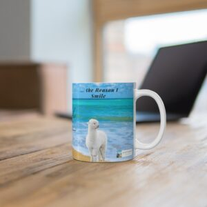 Thank you gift mug with beach for child