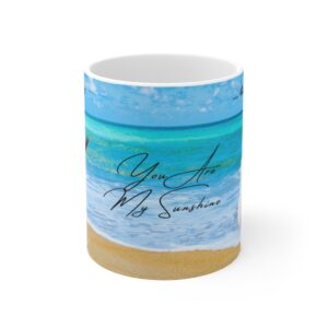 Thank you gift mug with ocean for child