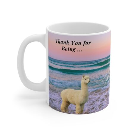 Thank y ou for being the reason we smile coffee mug gift from grandpa and grandma