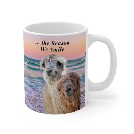 Thank y ou for being the reason we smile coffee mug gift from grandpa and grandma to grandson