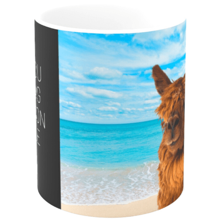 Thank you for being the reason we smile alpaca gift mug