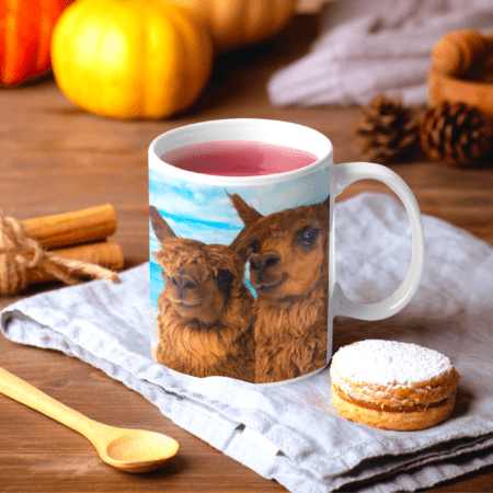 Thank you for being the reason we smile alpaca gift mug ookies