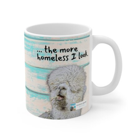 The longer I stay at home, the more homeless I look alpaca beach gift mug for aunt