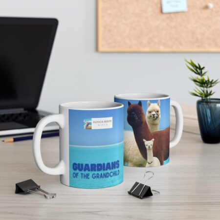 Guardians of the Grandchild, loving gift for child, 11 oz mug, two