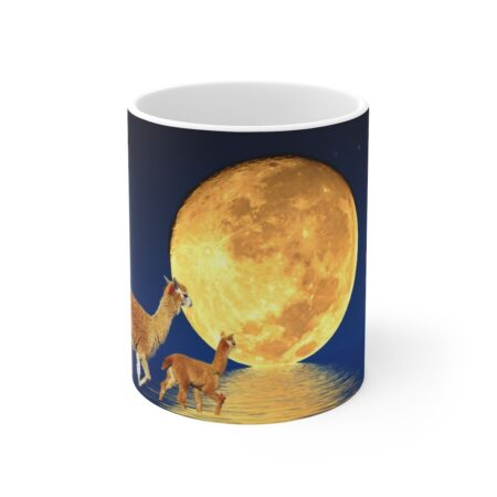 I Love You To The Moon And Back Mug Left Alpaca Baby
