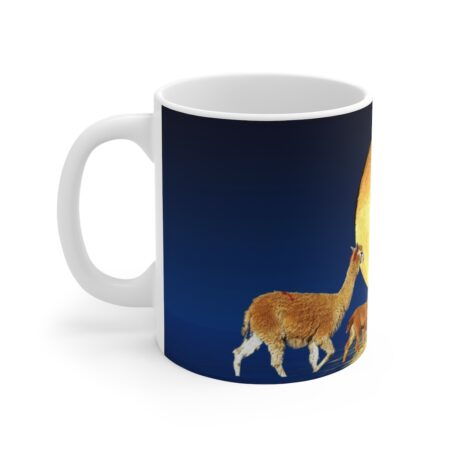 I Love You To The Moon And Back Mug Left Alpaca Mom